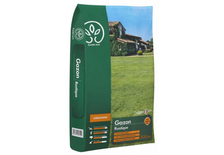 Gazon Rustique + engrais 10kg Gamm Vert