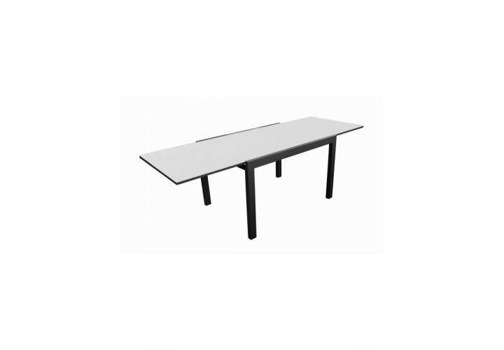 Table Elisa alu/verre 200/300 Proloisirs