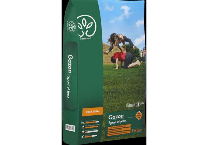 Gazon sport/jeux + engrais 5kg Gamm Vert