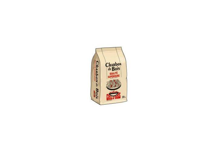 Charbon de bois qualité sup sac 20l