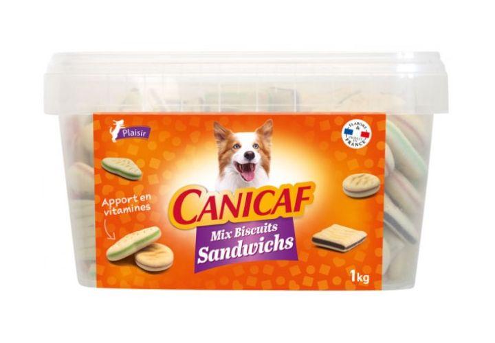 Biscuits sandwich seau 1kg Canicaf