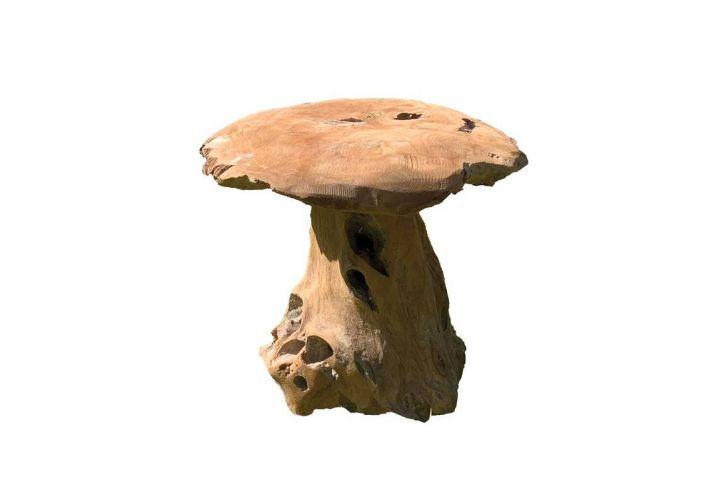 Champignon bois teck hauteur 40cm