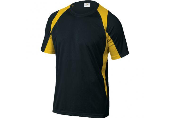 Tee shirt Bali Noir Jaune Deltaplus
