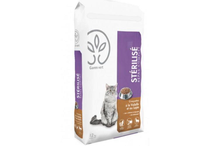 Croquette chat sterilisé 3kg Gamm Vert
