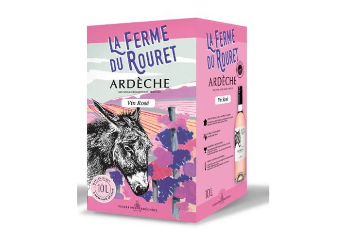 Bag in box vin rosé coteaux ardèche 10l