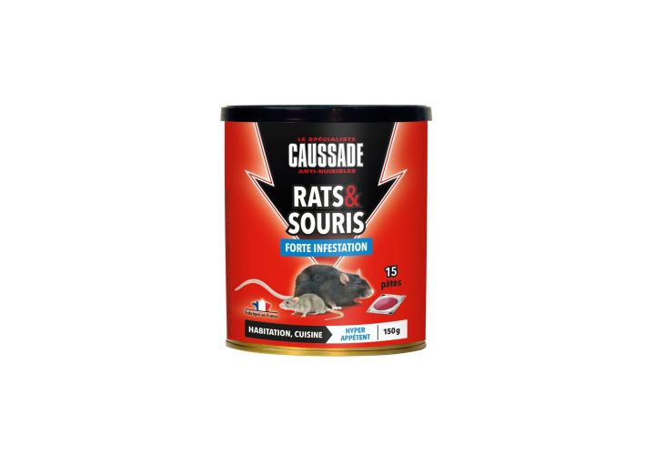 Raticide souricide pate 150g Caussade