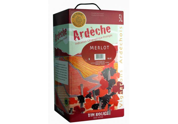 Bag in box Vin rouge IGP Merlot 5l