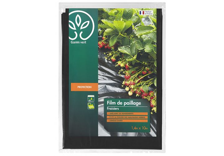 Film paillage fraise 10x1.40m Gamm Vert