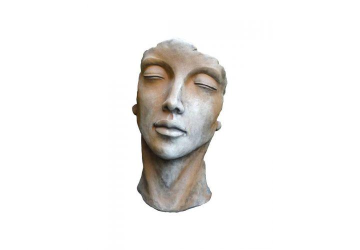 Statue visage femme rouille H115cm