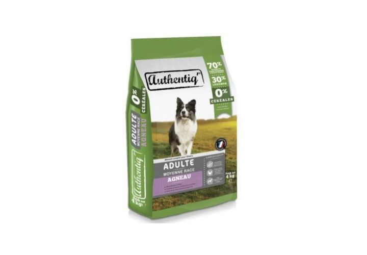 Authentic adult chien moyen agneau 4kg