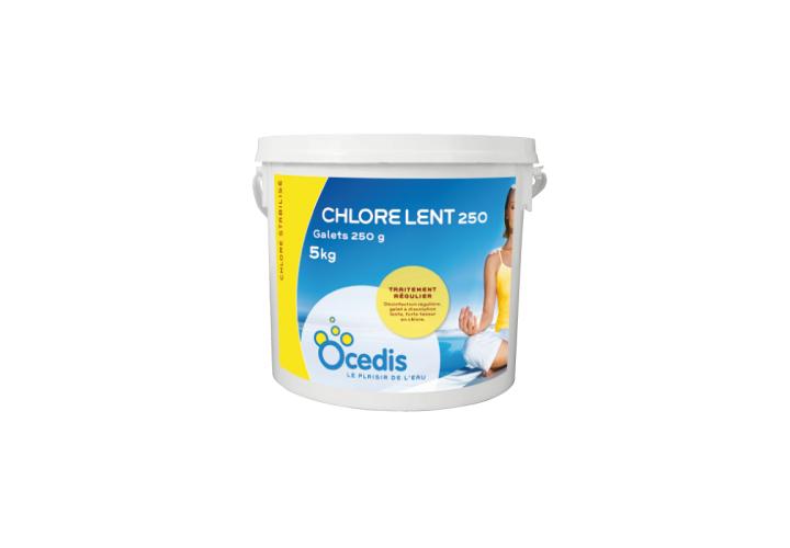 Chlore lent galets 250 g 5 kg
