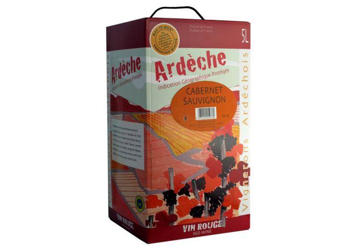 Bag in box rouge IGP Cab. Sauvignon 5l