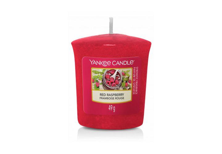 Bougie framboise rouge Yankee Candle