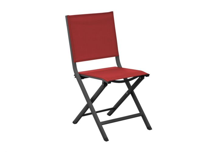 CHAISE PLIANTE THEMA ROUGE PROLOISIRS