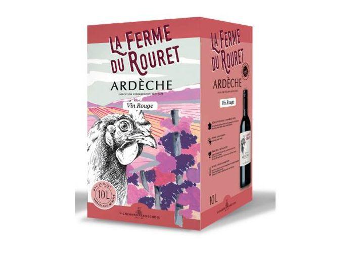 Bag in box vin rouge coteaux Ardèche 5l
