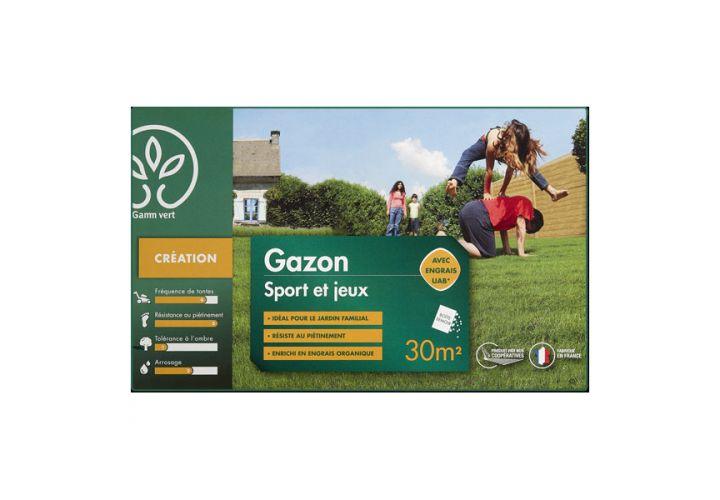 Gazon sport/jeux + engr. 1kg Gamm Vert