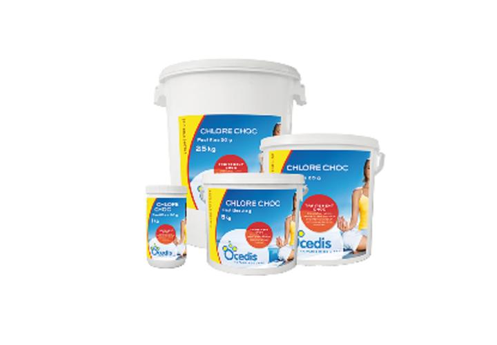 Chlore choc pastilles 20g 5kg