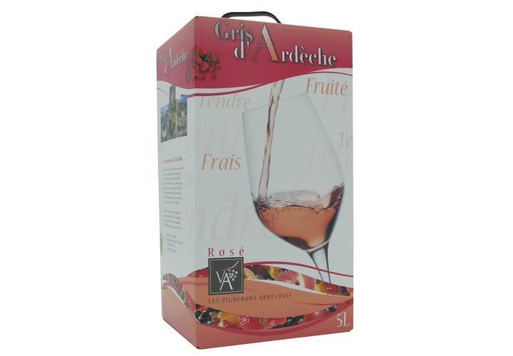 Bag in box Vin rosé IGP gris grenache 5l