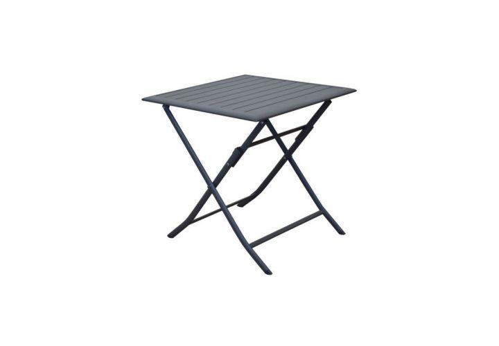 TABLE ALU GREY 70X70 PROLOISIRS