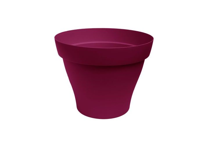 Pot plastique Roméo griotte D40cm