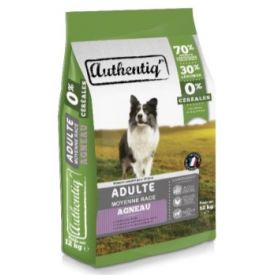 Croquette chien moyen 12kg Authentic