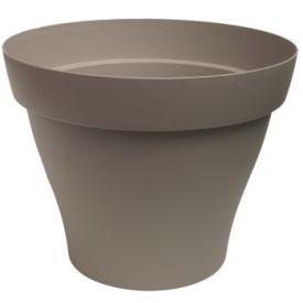 Pot plastique Roméo taupe D40cm