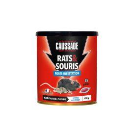 Raticide souricide pâte 150g Caussade