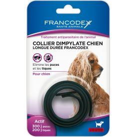 Collier noir anti-puces chien 200 jours