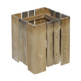 Bac bois carré Rak 40x40x45cm Burger
