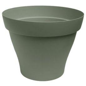 Pot plastique Roméo kaki D40cm